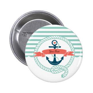 Anker nautisch runder button 5,7 cm