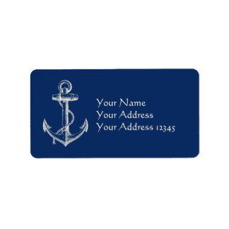 Anker-Seeadressen-Etikett Adress Aufkleber
