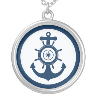Anker-Seemannhalskette Halskette Mit Rundem Anhänger