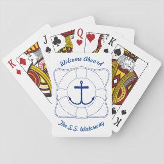 Anker-u. Lebensretter-Spielkarten (dunkler Druck) Spielkarten