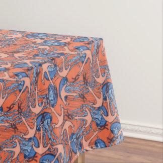 Anker-und Quallen-Muster Tischdecke