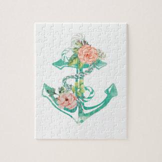Anker und Rosen Puzzle