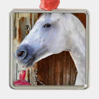 Anker unten - Pletcher Quadratisches Silberfarbenes Ornament