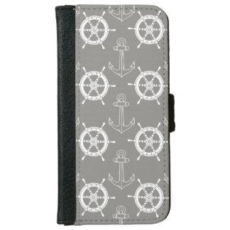 Anker weg grauer iPhone Geldbörsen-Kasten iPhone 6/6s Geldbeutel Hülle