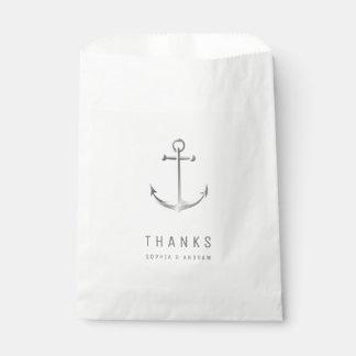 Ankerdank mit Monogrammstrand-Gastgeschenk Geschenktütchen