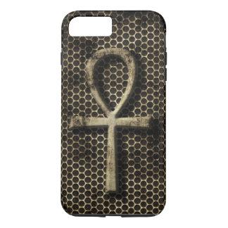 Ankh ewiges Lebens-Symbol-Schmutz-Metallblick iPhone 8 Plus/7 Plus Hülle