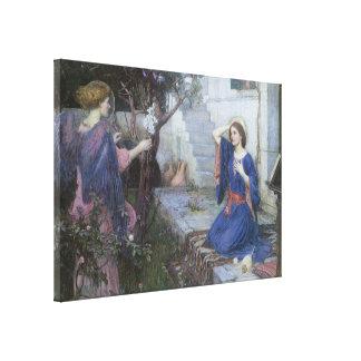 Ankündigung durch JW Waterhouse, viktorianische Leinwanddruck