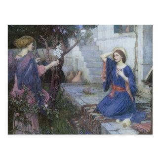 Ankündigung durch JW Waterhouse, viktorianische Postkarte