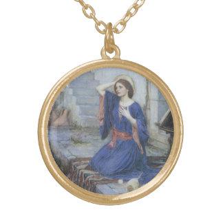 Ankündigung durch JW Waterhouse, viktorianische Vergoldete Kette