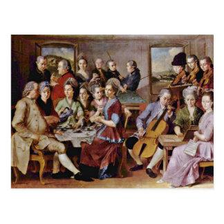 Ankündigung durch Pontormo Jacopo Postkarte