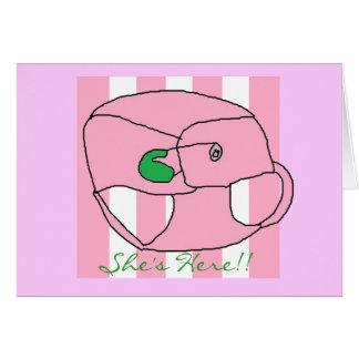 Ankündigung unserer Baby Karte