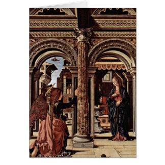 Ankündigungs-Altar durch Francesco del Cossa Grußkarte