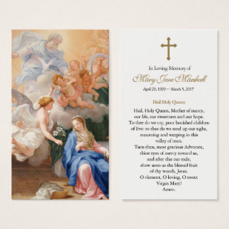 Ankündigungs-Begräbnis- Beileids-Gebets-Karte Visitenkarte