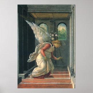 Ankündigungs-Engel durch Sandro Botticelli Poster