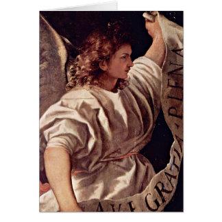 Ankündigungs-Engel durch Titian Karte