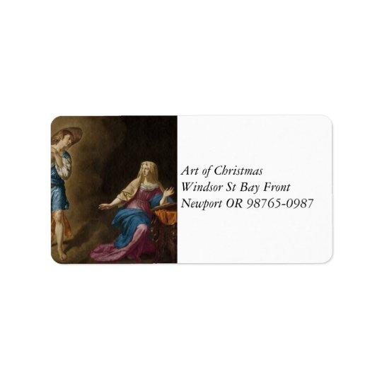 Ankündigungs-Engel und Mary Adress Aufkleber
