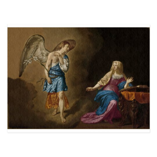 Ankündigungs-Engel und Mary Postkarte