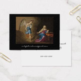 Ankündigungs-Engel und Mary Visitenkarte