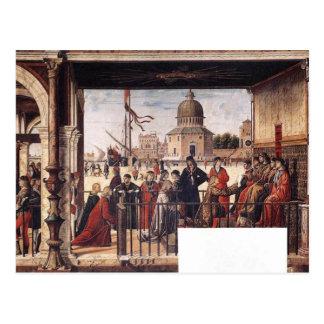 Ankunft der englischen Botschafter By Carpaccio Postkarte