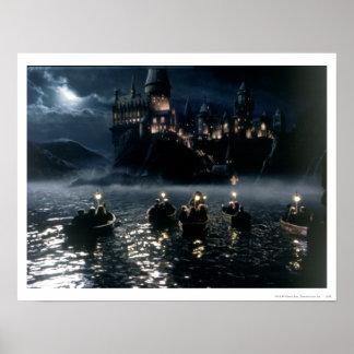 Ankunft Harry Potter-Schloss-| bei Hogwarts Poster