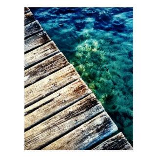Anlegestelle und Wasser Postkarte