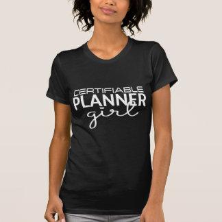 Anmeldepflichtiger Planer-Mädchen-T - Shirt