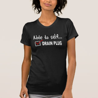 Anmerkung zum Selbst… Karo-Ablassschraube - T-Shirt