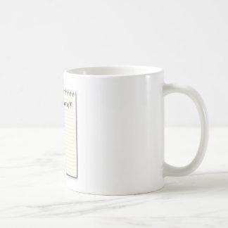Anmerkung zum Selbstpapier und -bleistift Kaffeetasse