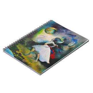 Anmerkungs-Buch mit surrealer Kunst-Abdeckung Notizblock