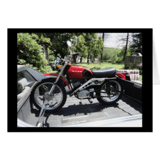 Anmerkungs-Karte Rupp Motorrad 1972 im Rot Karte