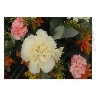 Anmerkungs-Karten-Gartennelken-Blumenstrauß Karte