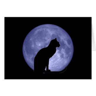 Anmerkungskarte des schwarze Katzen-blauen Mondes Karte