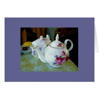 Anmerkungskarte - englische Teekannen Karte