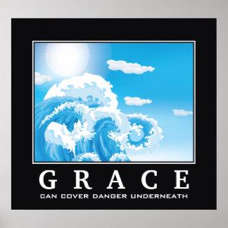 Anmut, blaues weißes Ozeanwellen demotivational Poster
