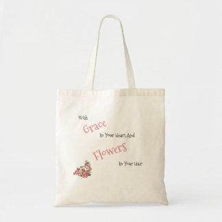 Anmut und Blumen-Tasche Tragetasche