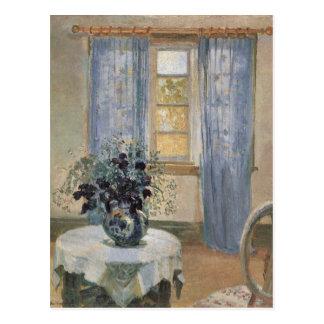 Anna Anchers blauer Clematis im Studio des Postkarte