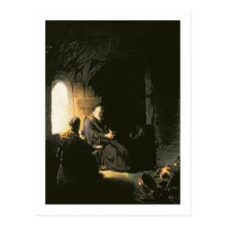 Anna und das blinde Tobit, c.1630 (Öl auf Platte) Postkarte