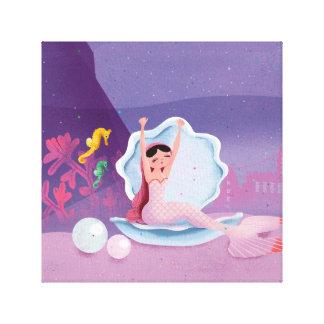 Annabella die aufwachende Meerjungfrau Leinwanddruck