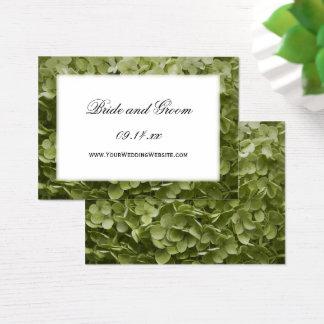 Annabelle Hydrangea-Hochzeits-Website-Karte Visitenkarte
