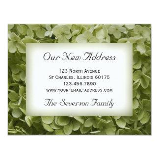 Annabelle Hydrangea-neue Adresse 10,8 X 14 Cm Einladungskarte