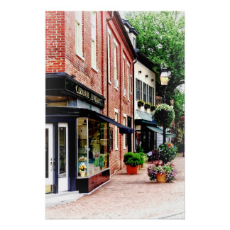Annapolis MD - Entlang Staats-Kreis Poster