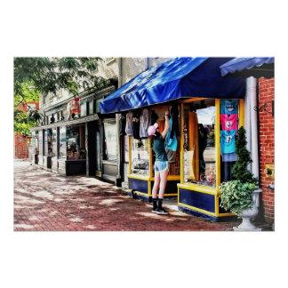 Annapolis MD - Öffnen für Geschäft Poster