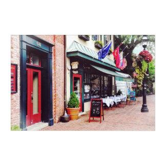 Annapolis MD - Restaurant auf Staats-Kreis Acryldruck