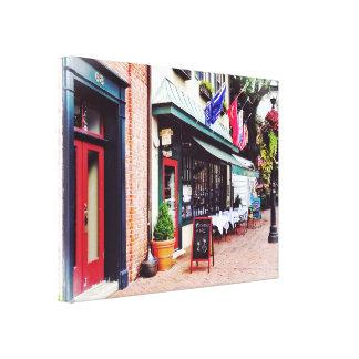 Annapolis MD - Restaurant auf Staats-Kreis Leinwanddruck