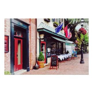 Annapolis MD - Restaurant auf Staats-Kreis Poster