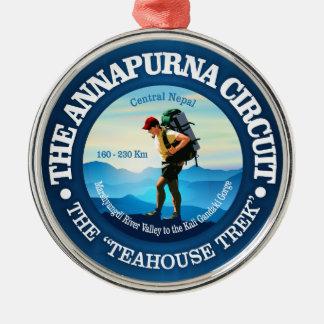 Annapurna Stromkreis Rundes Silberfarbenes Ornament