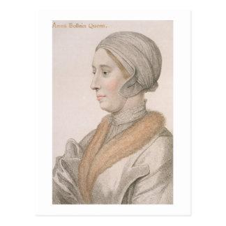 Anne Boleyn (1507-36) graviert von Francesco Postkarte