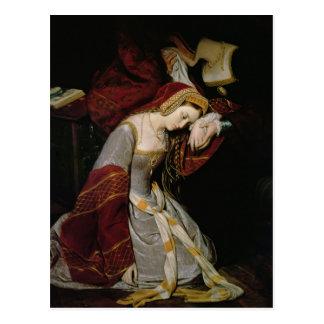 Anne Boleyn im Turm, Detail, 1835 Postkarte