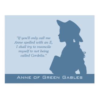 Anne der grünen Zitate der Giebel CC0949 Postkarte
