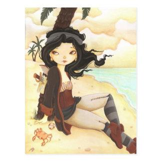 Anne - feenhafte Piratenphantasiepostkarte Postkarte